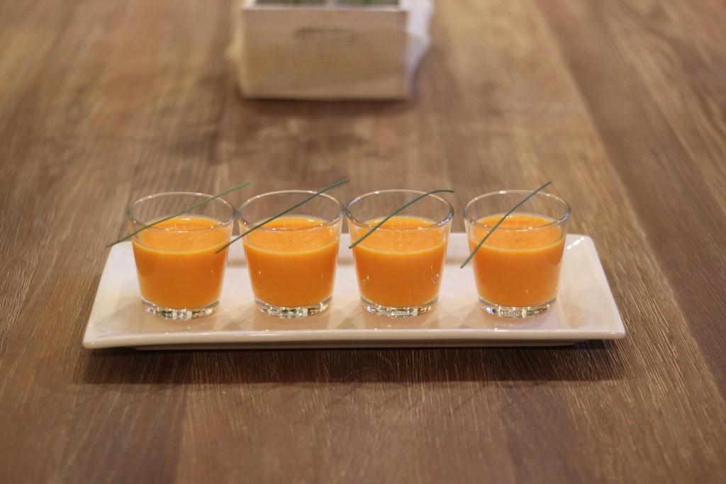 RECETAS SALUDABLES FARMACIA ALBALA Crema fría de zanahorias al aroma de jengibre