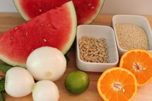 Quinoa con Sandía y Aliño de Pimientos Asados RECETAS SALUDABLES FARMACIA ALBALÁ